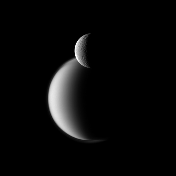 cassini-rhea-titan-photo